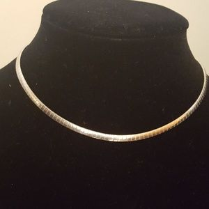 "Choker 925 Sterling ITALY 19.22g 15.5""in"